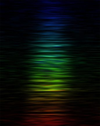 The intensity of FRB 150807 at different radio frequencies or colors -- red corresponds to lower frequencies and blue to higher frequencies. The x-axis is time. The fine structure in the burst is the scintillation or twinkling--the rays interfere constructively and destructively differently at different frequencies. This pattern provides insights into the turbulence in plasma towards the burst.